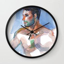 MATT, Semi-Nude Male by Frank-Joseph Wall Clock