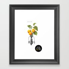 Oh yeah it's a squid-peach-tree. Framed Art Print