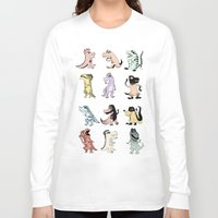 dinosaurs Long Sleeve T-shirts featuring Dinosaurs by BlandinePannequin