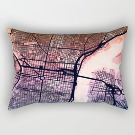 Philadelphia Pennsylvania Street Map Rectangular Pillow
