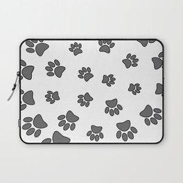 Spiral Dog Paw Print Laptop Sleeve
