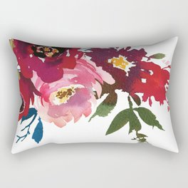 Falling Flowers Rectangular Pillow