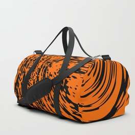 Aggressive orange marble pattern Duffle Bag