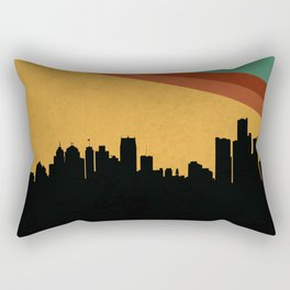 Detroit Skyline Rectangular Pillow