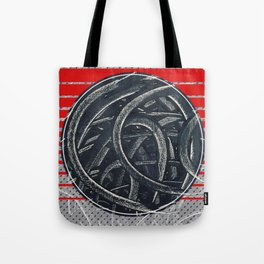 Junction - red graphic Tote Bag