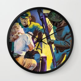 Hugh Joseph Ward - Red Dawn, Sower of Swords - Digital Remastered Edition Wall Clock