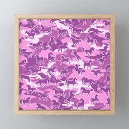 Horse Camo PINK Framed Mini Art Print