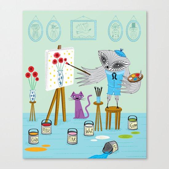 Picassowl Canvas Print