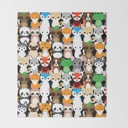 Animal Friends Throw Blanket