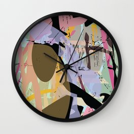 collapsed emotion Wall Clock