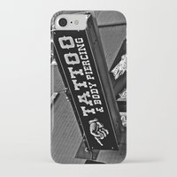 tattoos iPhone & iPod Cases featuring Tattoos Here by Biff Rendar