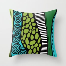 Green Dive -Plongeon vers-textures Throw Pillow