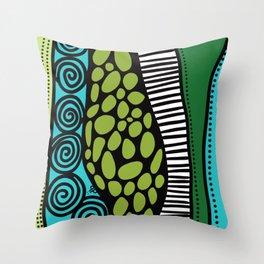 Green Dive -Plongeon vers-textures Throw Pillow