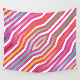 Symmetric diagonal stripes background 5 Wall Tapestry