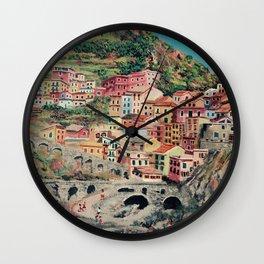 Cinque Terre 1 Wall Clock