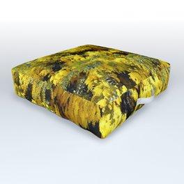 Australian Golden Wattle Outdoor Floor Cushion