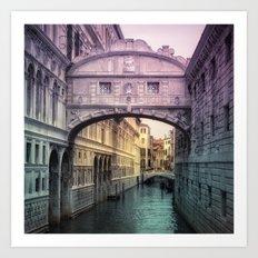 Ponte dei Sospiri | Bridge of Sighs - Venice (colored version) Art Print