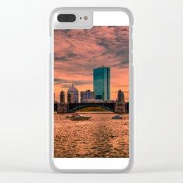 Longfellow Bridge , Boston, Massachusetts Clear iPhone Case