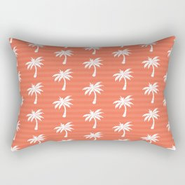Palm tree pattern with stripes Rectangular Pillow