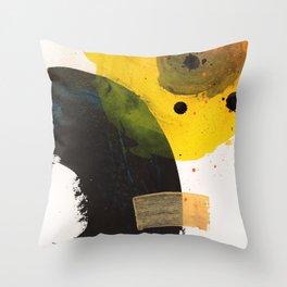 Solar eclipse #abstract #contemporary #artwork Throw Pillow