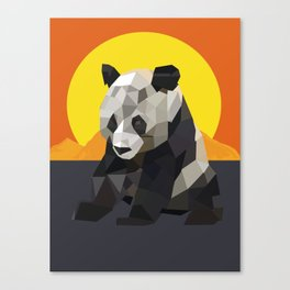Panda and the sunset Canvas Print