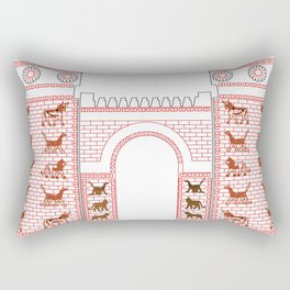 Ashtar Assyrian Gate Rectangular Pillow