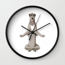 Meditating Irish Wolfhound Dog Wall Clock
