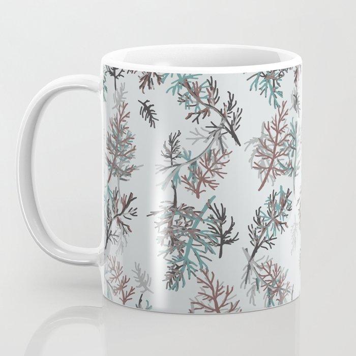 Thuja Leaves Blue Coffee Mug