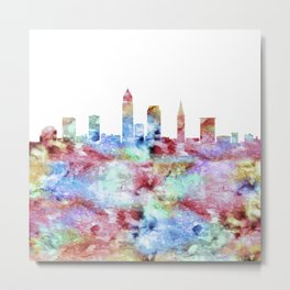 Cleveland City Skyline Metal Print