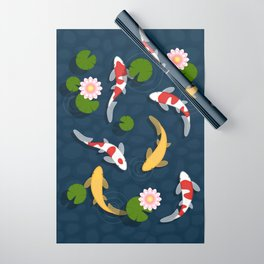 Japanese Koi Fish Pond Wrapping Paper