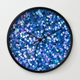 Dazzling Blue Sequences (Color) Wall Clock