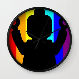 MINIFIG PRIDE by Chillee Wilson Wall Clock