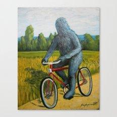 On A F___ing Bike Canvas Print