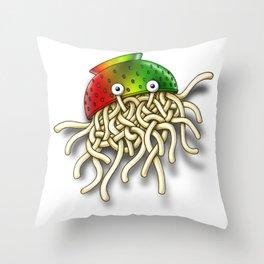 Pastafarian Flying Spaghetti Monster Rastafarian FSM Colander Throw Pillow