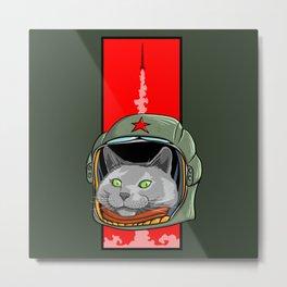 Russian Blue Space Program Metal Print