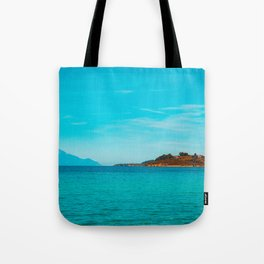 Some mountains in the sea Tote Bag