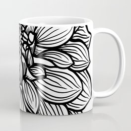 Dahlia in black and white Coffee Mug