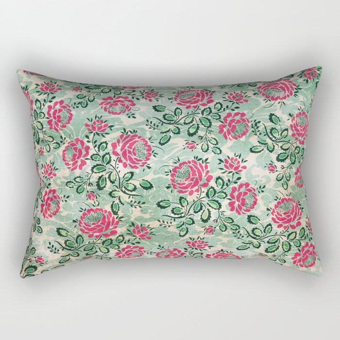 Retro French Floral Pattern Rectangular Pillow