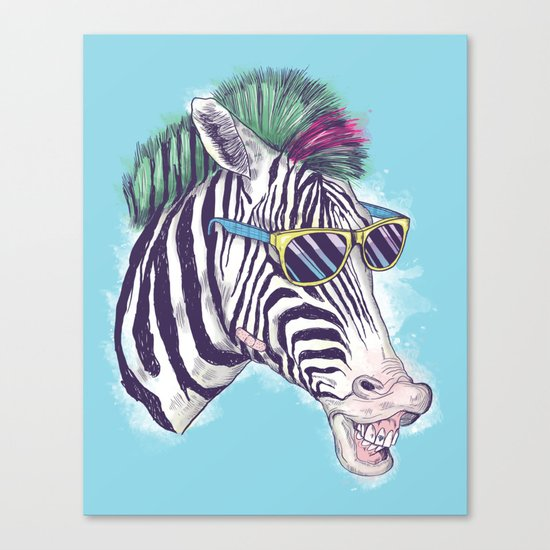 The East Village Zebra Punks Canvas Print