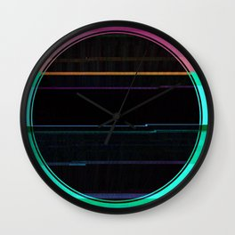 Glitch Circle Wall Clock