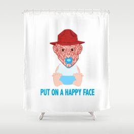 Put on a Happy Face Shower Curtain