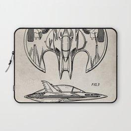 Batwing Patent - Bat Wing Art - Antique Laptop Sleeve