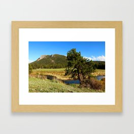 Along Fall River Framed Art Print