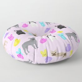 French Bulldog peeps marshmallow spring easter treats frenchie must haves dog breeds Floor Pillow