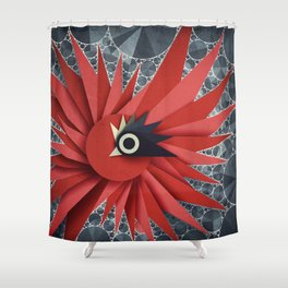 Origami Chick Shower Curtain