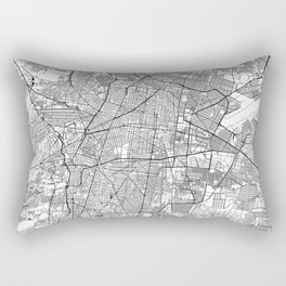 Mexico City White Map Rectangular Pillow