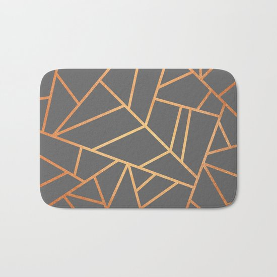 Copper And Grey Bath Mat