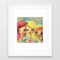 sisters Framed Art Prints featuring Sisters by SannArt