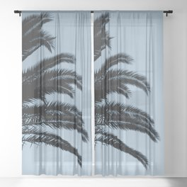 Palm Leaves Sunset Dream #2 #tropical #decor #art #society6 Sheer Curtain