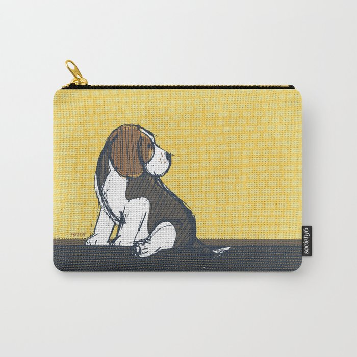 Beagle Puppy Portait by Friztin Carry-All Pouch